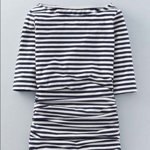 🎈Boden Striped Ruched Tee
